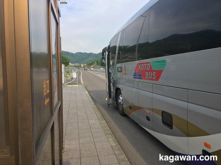 香川に夜行バスが到着