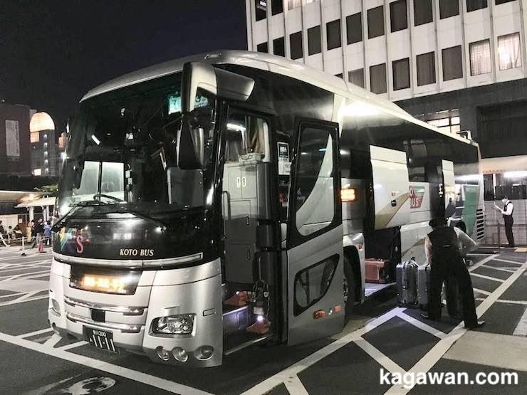 東京から香川への夜行バス移動の概要
