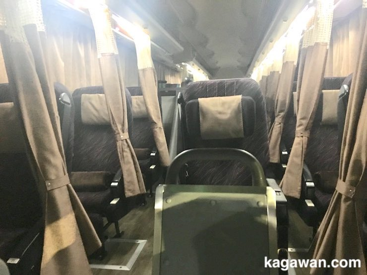 東京から香川への夜行バス移動は3列シートのプレミアム3がおすすめ